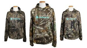 Nomad Women's Camo Hoodie Midweight Fleece Lined Camouflage Hunting Pullover