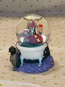 "Disney Nightmare Before Christmas Lock Shock Barrel Bathtub Mini Snowglobe 3"""