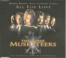 BRYAN ADAMS & STING & ROD STEWART All for Love w/ LIVE TRX UK CD Single US Seler