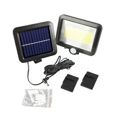 100 LED Solarleuchte Bewegungsmelder Solarstrahler Solarlampe Außen Gartenlampe