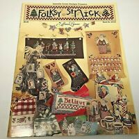 Cross Stitch Advent Calendar Folksy St Nick Pattern Book 18 Pages Stockings ++++