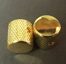 Dragonfire Guitar and Bass TELE Style  Dome Knobs, Metal Gold, Set of 2 New!