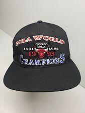 Chicago Bulls NBA World Champions 1991 1992 1993 Starter Hat Cap