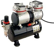 2 Zylinder Airbrush Kompressor AS-196 Kolbenkompressor 3,5L Kessel 6bar  01764