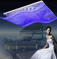 LED Crystal Ceiling Lamp Living Room Chandelier Dimming Pendant Light Fixtures