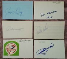 Silvio Martinez St Louis Cardinals White Sox Autographed Signed 3x5 Index Card