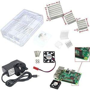 Raspberry Pi 3 Starter Kit with Power Supply (UK Plug), Heat Sink