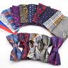 New Men's Bow Ties Set Handkerchief Silk Checks Floral Tuxedo Bowtie Wedding Tie