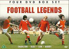 FOOTBALL LEGENDS 4 DVD BOX SET BOBBY CHARLTON GEORGE BEST DENNIS LAW LIAM BRADY