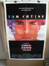 BORN ON THE 4th OF JULY ~1 SHEET~1989~ORIGINAL~MOVIE POSTER ~TOM CRUISE