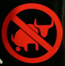 NO BULL BS -  Decal Sticker for Motorcycle Helmet