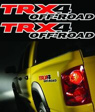 """2 - TRX4 Offroad Truck 4x4 Decals / Stickers Dodge Dakota Size 2.5""""x15"""" 3M VINYL"""