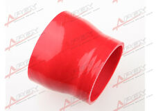 """3Ply 3.5"""" To 3'' inch Straight Reducer 76.2mm Silicone Hose Coupler Pipe Red"""
