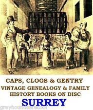 Surrey Genealogy Topography Local History 48 Vintage Books on Data Disc