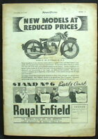 MOTOR CYCLING MAGAZINE SURPRISE OF THE EARLS COURT SHOW - 2 NOV 1938 (No Covers)