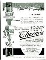 Publicité ancienne Therm'x efficacité en hiver 1931 issue de magazine