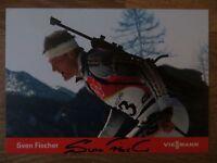 Handsignierte AK Autogrammkarte SVEN FISCHER Olympia GOLD Turin 2006 Biathlon #1