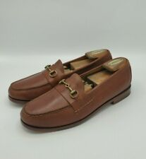 Cole Haan Grand OS Brown Gold Horsebit Slip-On Loafers  Shoes Men's Size 10.5 M