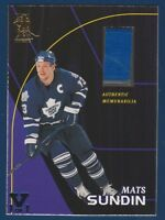 MATS SUNDIN 98-99 BE A PLAYER AUTHENTIC MEMORABILIA 1998-99 1 OF 1 S-5 21037