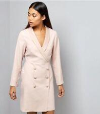 LOOK Petite Shell Pink Tuxedo Dress Size UK 4 Lf088 CC 02