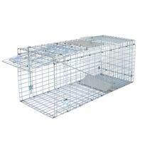"32"" x 12.5""Humane Animal Trap Steel Cage Live Rodent Control Skunk Rabbit Rodent"