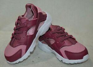 Nike Huarache Run (TD) V-Wine/Pink Toddler Girl's Sneakers-Sz 5/6/7/8/9/10C NWB