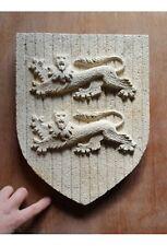 Escultura blasón Normandia de piedra reconstituida hydrofugée