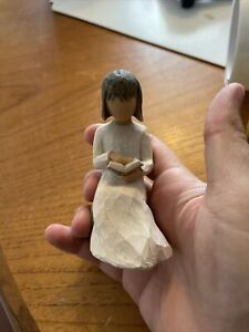Willow Tree Wisdom- Figure of girl reading a book No Box