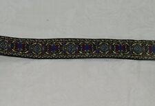 2 Yards Black Tapestry Metallic Ribbon 18937