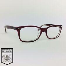 RAY-BAN eyeglasses TRANSLUCENT BURGUNDY RECTANGLE glasses frame MOD: RB5228 5112
