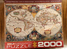 """NEW"" EuroGraphics ANTIQUE WORLD MAP Jigsaw Puzzle 2,000 Pieces"