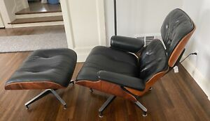 Eames Rosewood Lounge Chair and Ottoman by Herman Miller, circa 1959