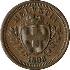 1898-B Switzerland  1 Rappen KM 3.1 Nice XF Nice Eye Appeal