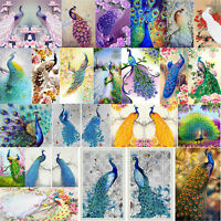 5D DIY Diamond Painting Peacock Embroidery Home Wall Decor Cross Crafts Stitch
