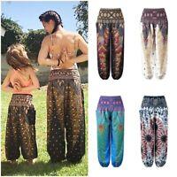 Kids Girls Aladdin Harem Pants Yoga Baggy Boho Hippie Alibaba Elastic Trousers
