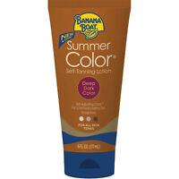 Banana Boat Summer Color Self-Tanning Lotion, Deep Dark Color 6 oz Tube