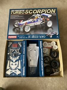 KYOSHO 1/10 EP 2WD TURBO SCORPION BUGGY KIT WITH VINTAGE WHEELS + TYRES.