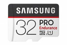 SAMSUNG Pro Endurance U1 100MB/s Read Flash Memory Card 32 GB Micro SD New sm