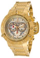 Invicta Mens 80526 Subaqua Analog Display Swiss Quartz Gold Watch W/1 SLOT BOX