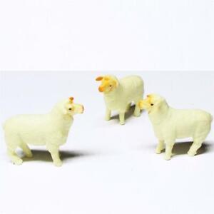 Doll House Shoppe 3 Toy Sheep Lamb Ewe Game Pcs 11880 Lamb Micro-mini Miniature