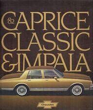Chevrolet Impala Caprice Classic 1982 USA Market Sales Brochure