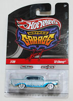 Hot Wheels WAYNE'S GARAGE '57 CHEVY CHASE SIGNED REAL RIDERS 1:64