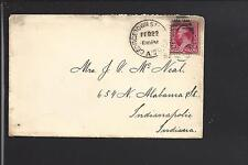GEORGETOWN STA. WASHINGTON,DISTRICT OF COLUMBIA, 1892 #220 COVER TO INDIANAPOLIS