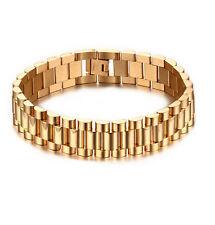 New List Stainless Steel Fashion design Men's Gold Bracelet Chain 15mm 8.66''