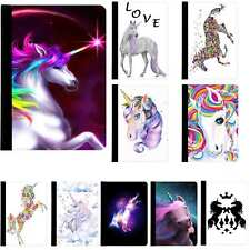 Unicorn Cute Rainbow Horse Rotating Case Cover for iPad 2 3 4 Air Mini Pro 9.7