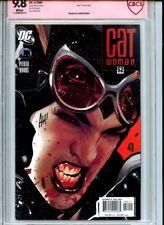 Catwoman #52 CBCS 9.8 Black Mask Death Adam Hughes Signature