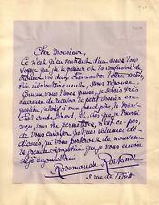 1890 ROSEMONDE GERARD ROSTAND - schöner eigh. Brief