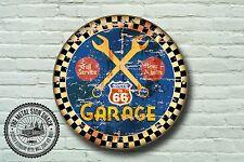 Route 66 Garaje Letrero De Metal, coches, American, gas, Clásico, decoración de garaje, 968