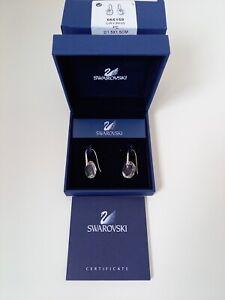 Swarovski Genuine Crystal Galet Single Stone Drop Earrings Original Box Unworn