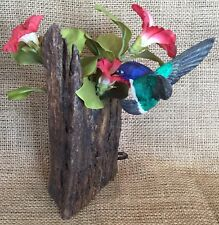 HAND CARVED AND PAINTED ARTIST SIGNED BASSWOOD WOOD HUMMINGBIRD BIRD ART FIGURE